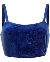 Alice McCALL Midnight Magic Cropped Top - Blue