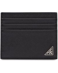 Prada Logo Plaque Cardholder - Black