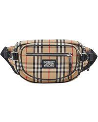 Burberry Medium Vintage Check Cannon Belt Bag - Black