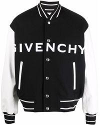 Givenchy Contrasting-sleeves Bomber Jacket - Black