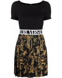 Versace Jeans Couture Regalia Baroque-print T-shirt Dress - Black