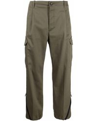 Nine:inthe:morning Zipped-ankles Cargo-pockets Straight-leg Pants - Green