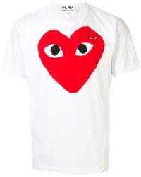 COMME DES GARÇONS PLAY Heart Logo T-shirt - White