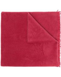 Forte Forte Fringed Wool Scarf - Pink