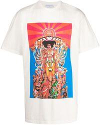ih nom uh nit Jimi Hendrix Experience T-shirt - White