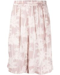 Laneus Tropical-print Bermuda Shorts - Pink