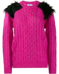 Prada Chunky Knit Sweater - Pink