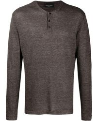 Roberto Collina Buttoned-up Knitted Sweater - Brown
