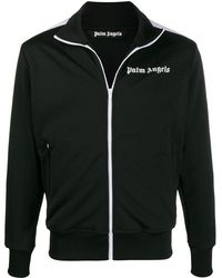 Palm Angels Logo-print Track Jacket - Black