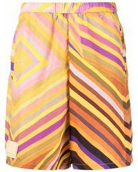 Formy Studio Crono Striped Shorts - Yellow