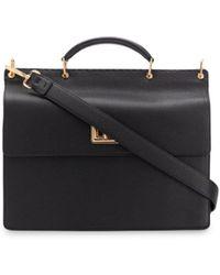 Fendi Rigid Double-face Briefcase - Black