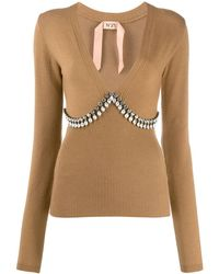 N°21 Crystal Embellished Sweater - Multicolour