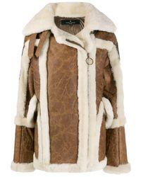 Nicole Benisti Textured Shearling Coat - Brown
