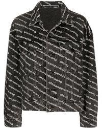 Alexander Wang All-over Logo-print Jacket - Black