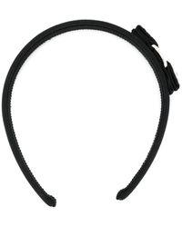 Ferragamo Embellished Bow Headband - Black