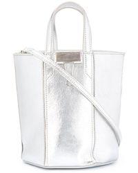 Off-White c/o Virgil Abloh Laminate Allen Bucket Bag - Metallic