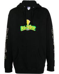 RIPNDIP Graphic Print Hoodie - Black