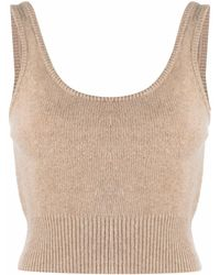 FEDERICA TOSI - Ribbed-detail Knit Top - Lyst