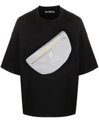 MASTERMIND WORLD Zip-pocket Cotton T-shirt - Black