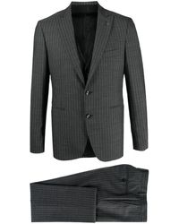 Tagliatore - Pinstripe Two-piece Wool Suit - Lyst