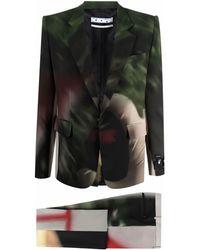 Off-White c/o Virgil Abloh Katsu Slim Constructed Suit Multicolour No Colour - Green