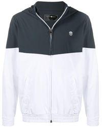 Hydrogen Bi-colour Hooded Track Jacket - White