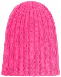 Laneus Ribbed-knit Cashmere Beanie - Pink