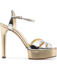 Casadei Metallic Open-toe Sandals - Grey