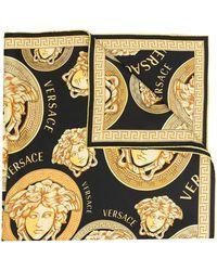 Versace Medusa Head Logo Scarf - Black