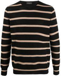 Roberto Collina Striped Pattern Sweater - Black
