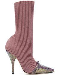 Marco De Vincenzo Sock-style Stiletto Boots - Multicolour