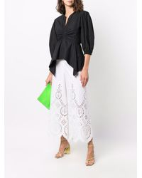 Valentino Laser-cut Detail Cropped Trousers - White