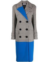 Nina Ricci Houndstooth Double-breasted Coat - Grey