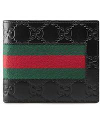 Gucci - Signature Web Wallet - Lyst