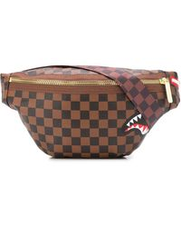 Sprayground Sharks In Paris Belt Bag - Brown
