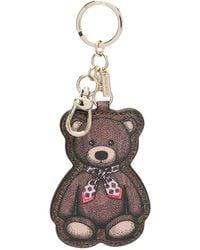 Etro Teddy Bear Print Keyring - Brown