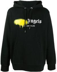 Palm Angels Los Angeles Sprayed Logo Hoodie - Black
