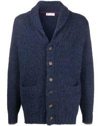 Brunello Cucinelli Shawl-collar Cardigan - Blue