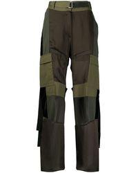 Sacai High-rise Combined Cargo Pants - Green