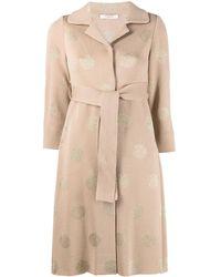 Charlott Polka-dot Cardi-coat - Natural