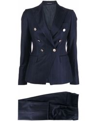 Tagliatore Tailored Double-breasted Suit - Blue