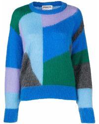 Essentiel Antwerp Colour-block Knit Jumper - Blue