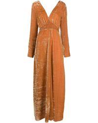 Forte Forte Velvet Maxi Dress - Brown