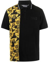Versace Jeans Couture - Baroque-print Polo Shirt - Lyst