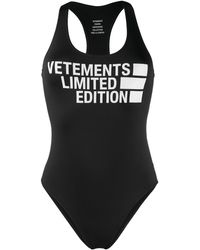 Vetements Cut-out Fitted Swimsuit - Black