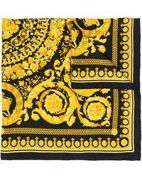 Versace Silk Foulard Signature Scarf - Black