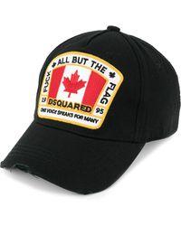 DSquared² Canadian Patch Baseball Cap Black