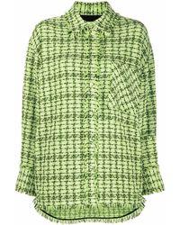 MSGM Tweed Shirt Jacket - Green