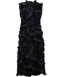 Moncler Genius + 4 Simone Rocha Ruffled Shell-trimmed Tulle Dress - Black