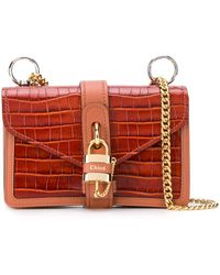 Chloé Aby Chain Shoulder Bag - Brown